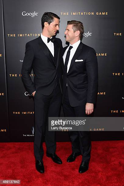 Actors Matthew Goode and Allen Leech attend the 'The Imitation Game' New York Premiere at Ziegfeld Theater on November 17 2014 in New York City