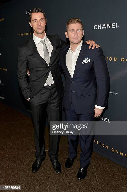 Actors Matthew Goode and Allen Leech attend The Weinstein Company's 'The Imitation Game' Los Angeles special screening hosted by CHANEL on November...