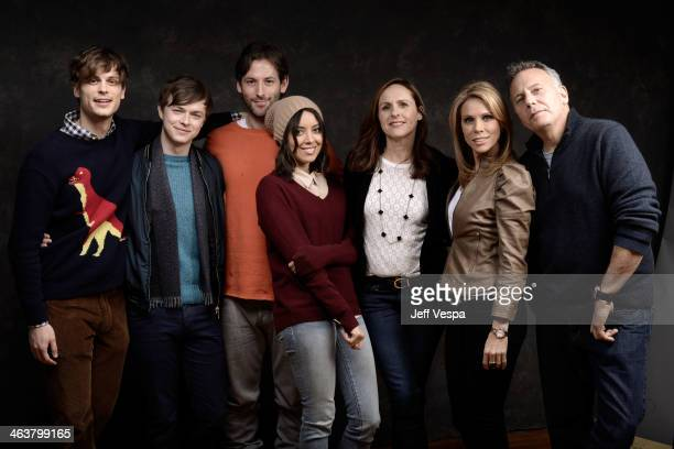 Actors Matthew Gray Gubler and Dane DeHaan Filmmaker Jeff Baena and actors Aubrey Plaza Molly Shannon Cheryl Hines and Paul Reiser pose for a...