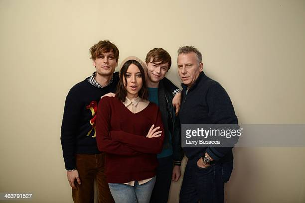 Actors Matthew Gray Gubler Aubrey Plaza Dane DeHaan and Paul Reiser pose for a portrait during the 2014 Sundance Film Festival at the Getty Images...