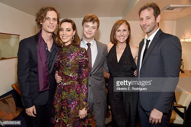 Actors Matthew Gray Gubler Aubrey Plaza Dane DeHaan Molly Shannon and writer/director Jeff Baena attend the screening of 'Life After Beth' with...