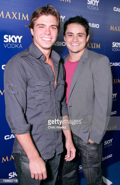 Actors Matthew Lawrence left and Jesse Garcia arrive at the Maxim Style Awards presented by Casio at the Avalon on September 18 2007 in Hollywood...