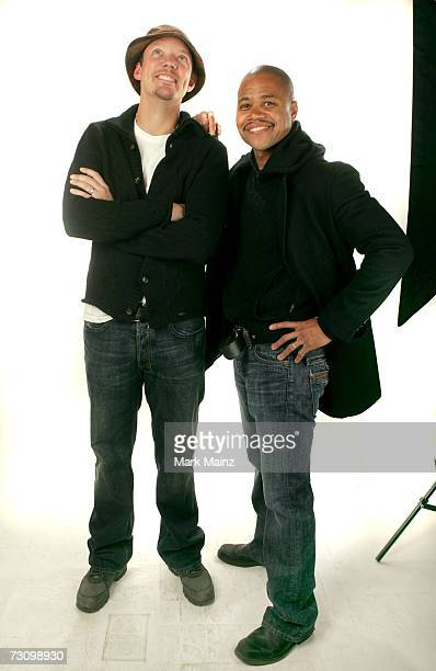 Actors Matthew Lillard and Cuba Gooding Jr from the film What Love Is pose for a portrait during the 2007 Sundance Film Festival on January 24 2007...