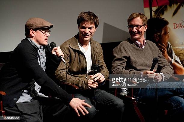 Actors Matthew Lillard and Nick Krause and producer Jim Burke participate in a QA session at TheWrap's Awards Season Screening Series Presents The...