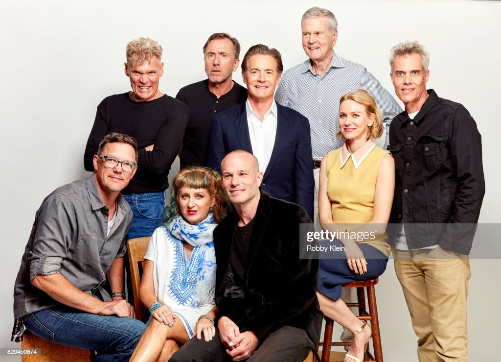 Actors Matthew Lillard, Everett McGill, Kimmy Robertson, Tim Roth, James Marshall, Kyle MacLachlan, Don Murray, Naomi Watts and Dana Ashbrook from Showtime's 'Twin Peaks' pose for a portrait during Comic-Con 2017 at Hard Rock Hotel San Diego on July 21, 2017 in San Diego, California.