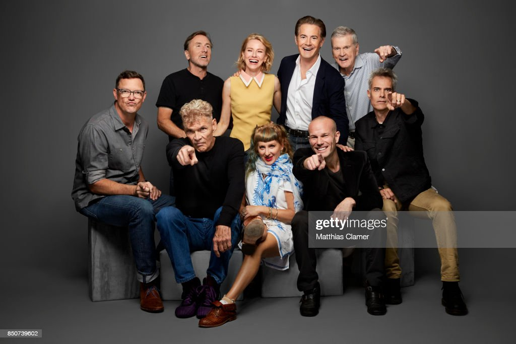 Actors Matthew Lillard, Tim Roth, Naomi Watts, Kyle MacLachlan, Don Murray, Everett McGill, Kimmy Robertson, James Marshall and Dana Ashbrook from Twin Peaks are photographed for Entertainment Weekly Magazine on July 21, 2017 at Comic Con in San Diego, California. PUBLISHED