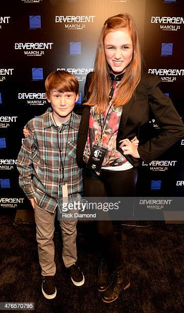 Actors Matthew Lintz Kill the Messenger and Madison Lintz The Walking Dead make a personal appearance at Regal Atlantic Station on March 3 2014 in...
