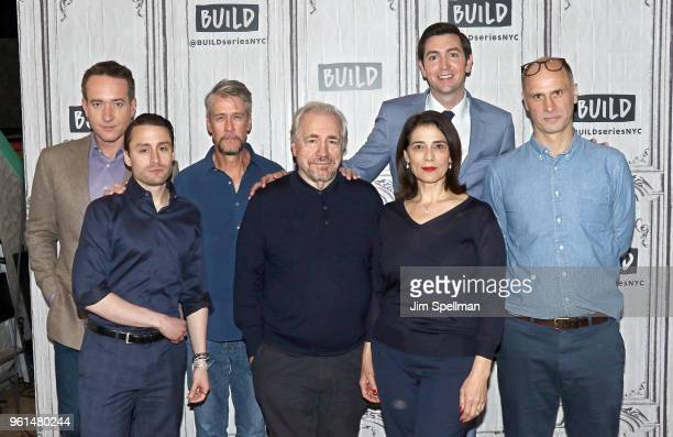 Actors Matthew Macfadyen Kieran Culkin Alan Ruck Brian Cox Hiam Abbass Nicholas Braun and writer/director Jesse Armstrong attend the Build Series to...