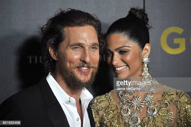 Actors Matthew McConaughey and Camila Alves attends The World Premiere of Gold hosted by TWC Dimension with Popular Mechanics The Palm Court Wild...