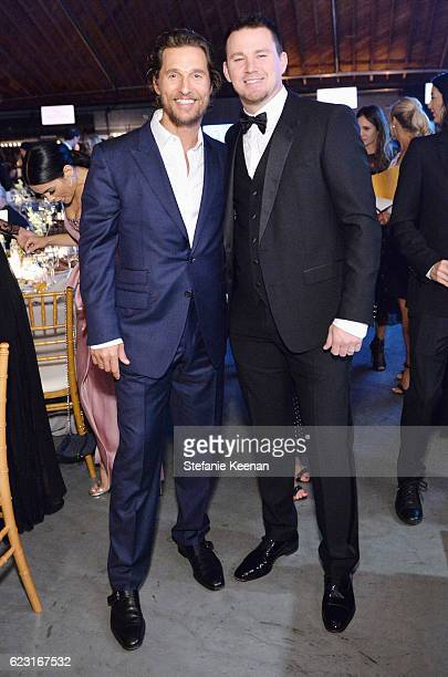 Actors Matthew McConaughey and Channing Tatum attend the Fifth Annual Baby2Baby Gala Presented By John Paul Mitchell Systems at 3LABS on November 12...