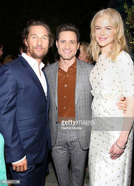 """Actors Matthew McConaughey, Edgar Ramirez, and Nicole Kidman attend as The Weinstein Company celebrates the cast and filmmakers of """"Sing Street,""""..."""