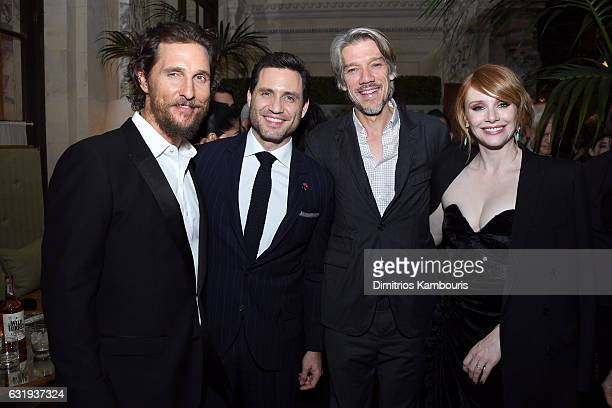 Actors Matthew McConaughey Edgar Ramirez Director Stephen Gaghan and Actress Bryce Dallas Howard attend the The World Premiere Of Gold After Party...