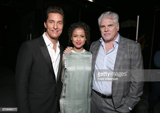 Actors Matthew McConaughey Gugu MbathaRaw and writer/director Gary Ross attend CinemaCon 2016 The State of the Industry Past Present and Future and...