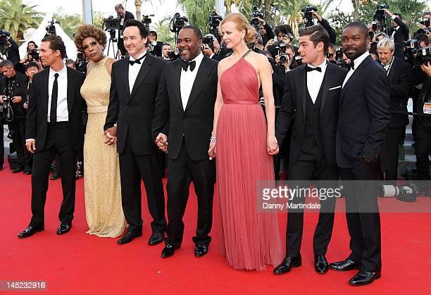Actors Matthew McConaughey Macy Gray John Cusack director Lee Daniels Nicole Kidman Zac Efron and David Oyelowo attend the 'The Paperboy' premiere...