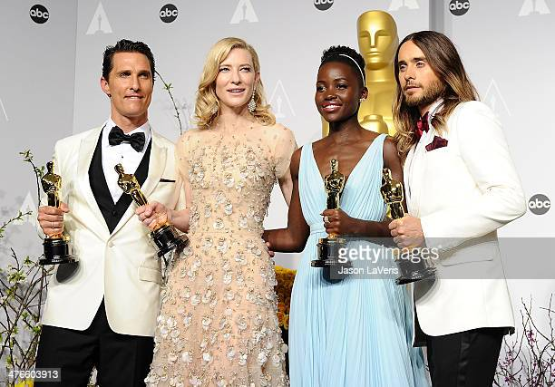Actors Matthew McConaughey winner of Best Performance by an Actor in a Leading Role Cate Blanchett winner of Best Performance by an Actress in a...