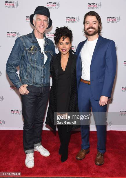Actors Matthew Modine Amirah Vann and director RJ Daniel Hanna attend the Miss Virginia New York Premiere at SVA Theater on October 04 2019 in New...