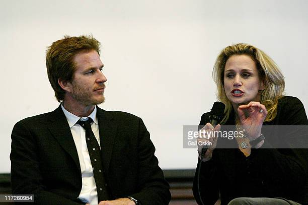 Actors Matthew Modine left and Cady Huffman right of the Creative Coalition participate in The Intersection of Hollywood and Politics Celebrity...