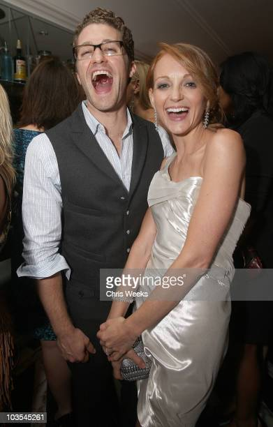 Actors Matthew Morrison and Jayma Mays attend Audi Celebrates the 2010 Emmy Awards at Cecconi's Restaurant on August 22 2010 in Los Angeles California