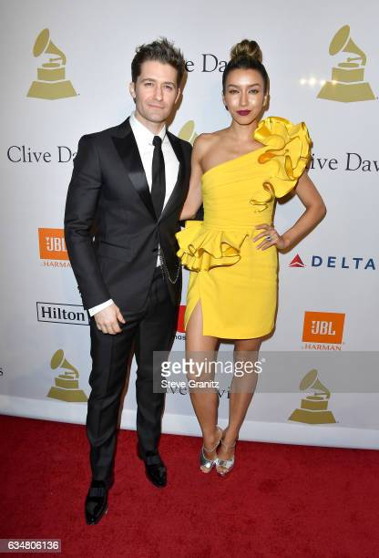 Actors Matthew Morrison and Renee Puente attend PreGRAMMY Gala and Salute to Industry Icons Honoring Debra Lee at The Beverly Hilton on February 11...