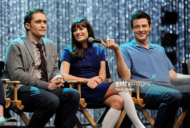 "Actors Matthew Morrison, Lea Michele and Cory Monteith appear at the ""GLEE"" 300th musical performance special taping at Paramount Studios on October..."