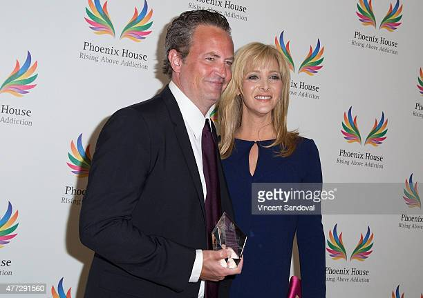 Actors Matthew Perry and Lisa Kudrow attend Phoenix House 12th Annual Triumph for Teens Awards gala at Montage Beverly Hills on June 15 2015 in...