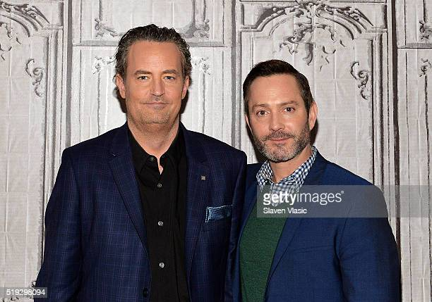 Actors Matthew Perry and Thomas Lennon visit AOL Build to discuss season 2 of their CBS show 'The Odd Couple' at AOL Studios In New York on April 5...