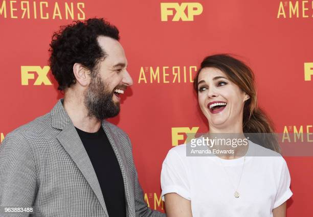 Actors Matthew Rhys and Keri Russell arrive at the For Your Consideration Red Carpet Event for the series finale oF FX's The Americans at the Saban...