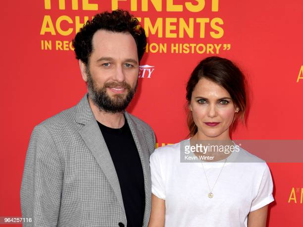 Actors Matthew Rhys and Keri Russell arrive at the For Your Consideration red carpet event for FX's The Americans at the Saban Media Center on May 30...