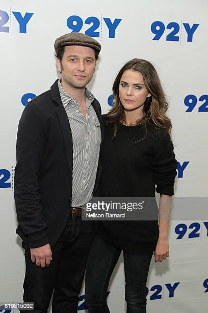 Actors Matthew Rhys and Keri Russell attend An Evening With The Americans Keri Russell Matthew Rhys Joe Weisberg And Joel Fields at 92nd Street Y on...