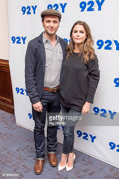 Actors Matthew Rhys and Keri Russell attend 'An Evening With The Americans Keri Russell Matthew Rhys Joe Weisberg and Joel Fields' moderated by THR's...
