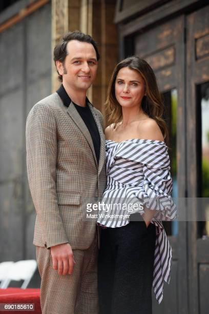 Actors Matthew Rhys and Keri Russell attend as Keri Russell is honored with Star on The Hollywood Walk of Fame on May 30 2017 in Hollywood California