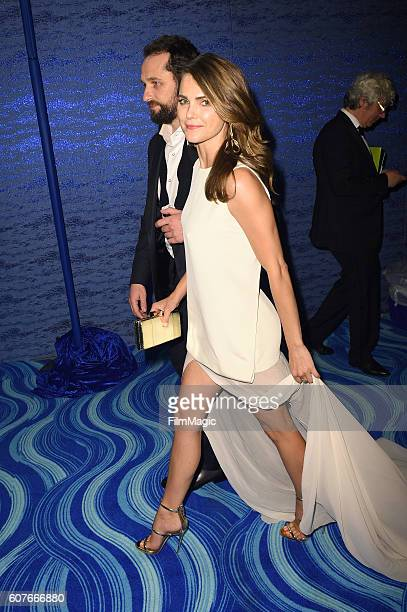 Actors Matthew Rhys and Keri Russell attend HBO's Official 2016 Emmy After Party at The Plaza at the Pacific Design Center on September 18 2016 in...