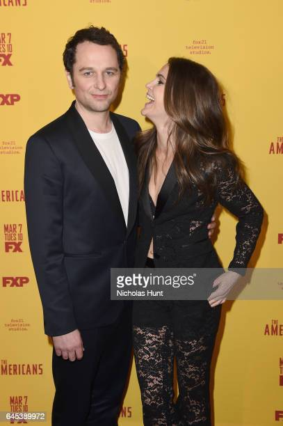 Actors Matthew Rhys and Keri Russell attend The Americans season 5 premiere at DGA Theater on February 25 2017 in New York City