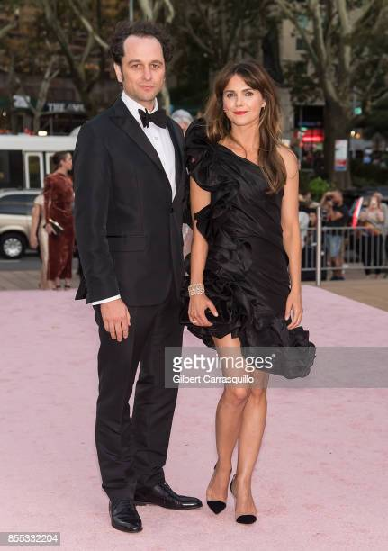 Actors Matthew Rhys and Keri Russell attend the New York City Ballet's 2017 Fall Fashion Gala at David H Koch Theater at Lincoln Center on September...