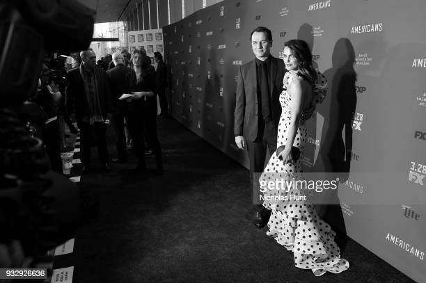 Actors Matthew Rhys Keri Russell attend 'The Americans' Season 6 Premiere at Alice Tully Hall Lincoln Center on March 16 2018 in New York City