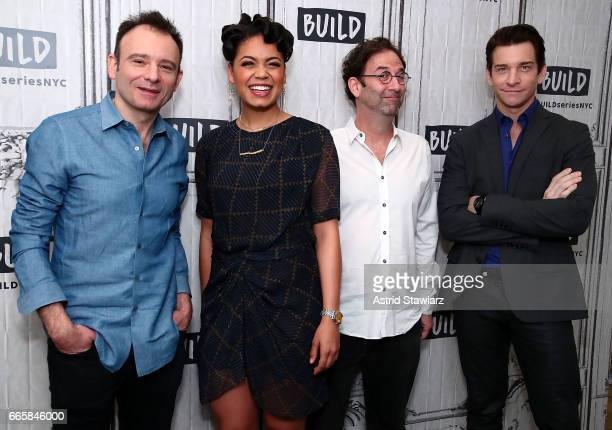 "Actors Matthew Warchus, Barrett Doss, Danny Rubin and Andy Karl discuss ""Groundhog Day"" at Build Studio on April 7, 2017 in New York City."