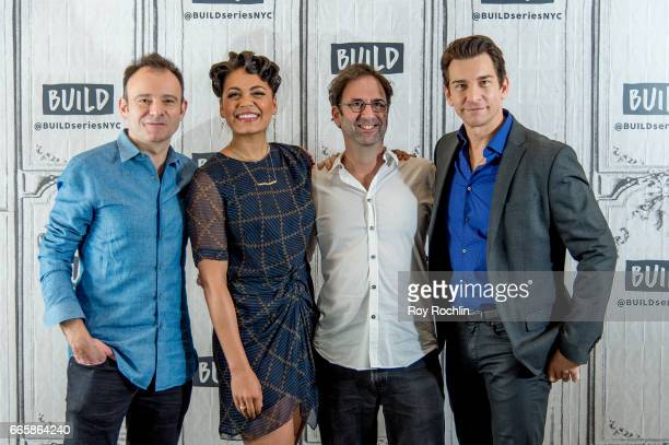 "Actors Matthew Warchus, Barrett Doss, Danny Rubin and Andy Karl discuss ""Groundhog Day"" with The Build Series at Build Studio on April 7, 2017 in New..."