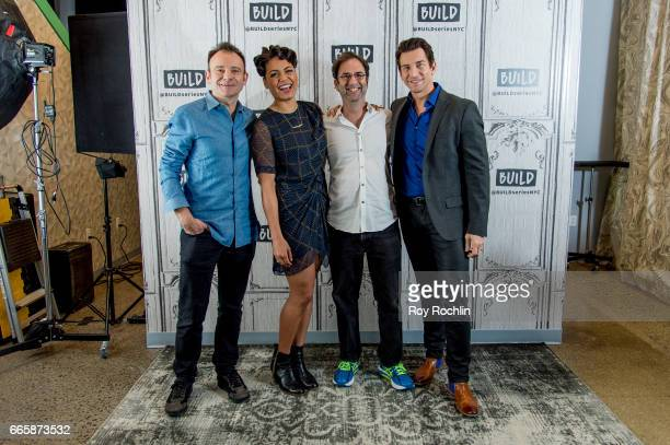 Actors Matthew Warchus Barrett Doss Danny Rubin and Andy Karl discuss Groundhog Day with The Build Series at Build Studio on April 7 2017 in New York...