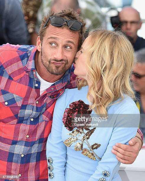 Actors Matthias Schoenaerts and Diane Kruger attend the Disorder photocall during the 68th annual Cannes Film Festival on May 16 2015 in Cannes France