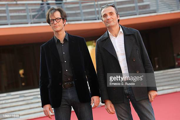 Actors Mattias Ripa and Stephane Roche attend the 'La Bande Des Jotas' Premiere during the 7th Rome Film Festival at Auditorium Parco Della Musica on...