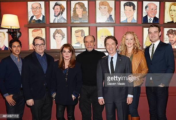 "Actors Maulik Pancholy, Matthew Broderick, Stockard Channing, F. Murray Abraham, Martin Short, Katie Finneran and Micah Stock attend Broadway's ""It's..."