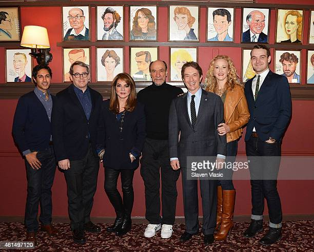 Actors Maulik Pancholy Matthew Broderick Stockard Channing F Murray Abraham Martin Short Katie Finneran and Micah Stock attend Broadway's 'It's Only...