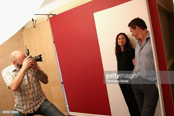 Actors Maura Tierney and Dominic West of Showtimes' 'The Affair' attends Behind The Scenes Of The Getty Images Portrait Studio Powered By Samsung...