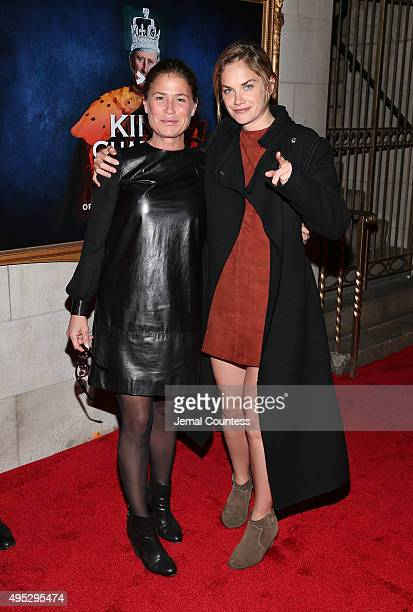 Actors Maura Tierney and Ruth Wilson attend the Broadway Opening Night of King Charles III at the Music Box Theatre on November 1 2015 in New York...