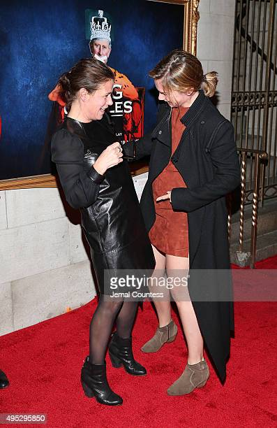 Actors Maura Tierney and Ruth Wilson attend the Broadway Opening Night of 'King Charles III' at the Music Box Theatre on November 1 2015 in New York...