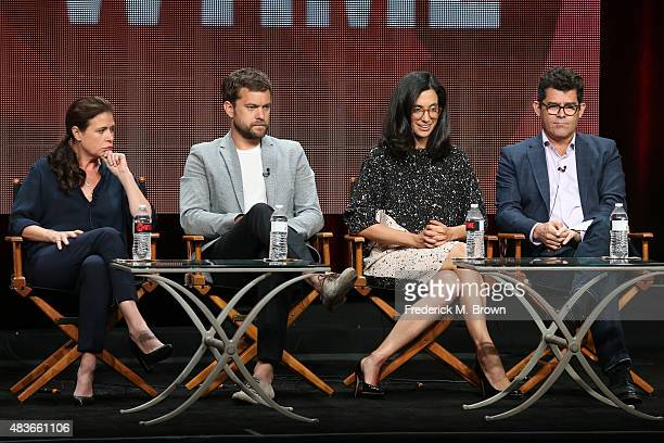 Actors Maura Tierney Joshua Jackson creator/executive producer Sarah Treem and executive producer/director Jeffrey Reiner speak onstage during the...