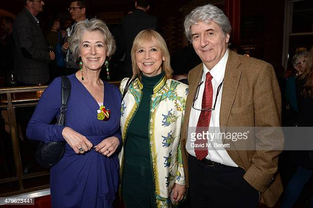 Actors Maureen Lipman Tom Conti and his wife Kara Wilson attend the press night of 'Two Into One' at Menier Chocolate Factory on March 19 2014 in...