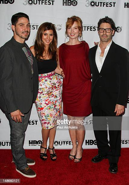 Actors Maurice Compte JamieLynn Sigler Alicia Witt and David W Ross attend the premiere of 'I Do' for the 2012 Outfest at the John Anson Ford...