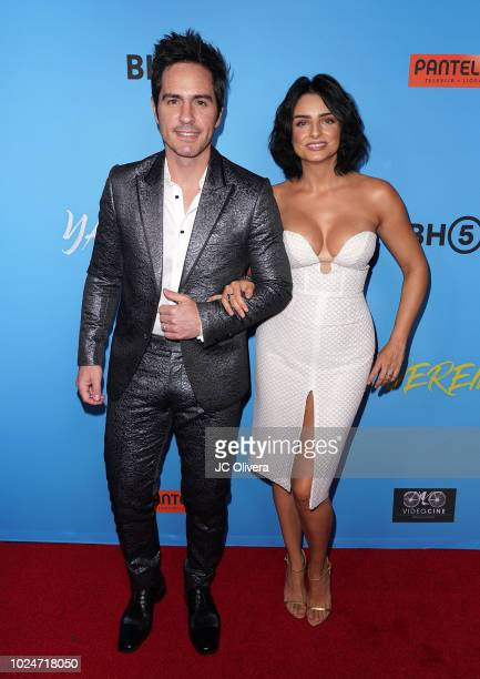 Actors Mauricio Ochmann and Aislinn Derbez attend the premiere of Pantelion Films' 'Ya Veremos' at Regal Cinemas LA LIVE Stadium 14 on August 27 2018...