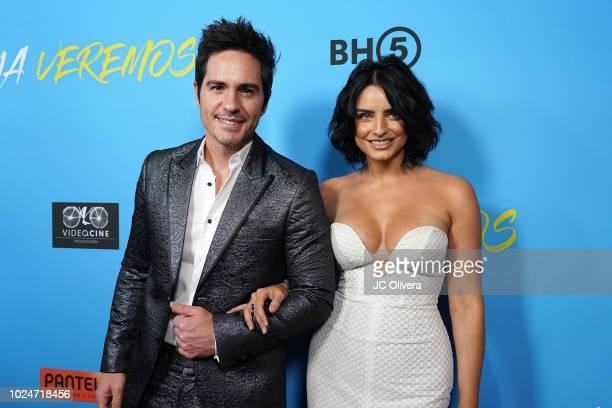 Actors Mauricio Ochmann and and Aislinn Derbez attend the premiere of Pantelion Films' 'Ya Veremos' at Regal Cinemas LA LIVE Stadium 14 on August 27...